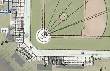 Baseball field mapping